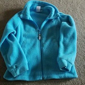 Columbia fleece zip up size 7-8 blue